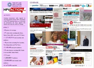 The HPV and Anal Cancer Foundation in the News 2014