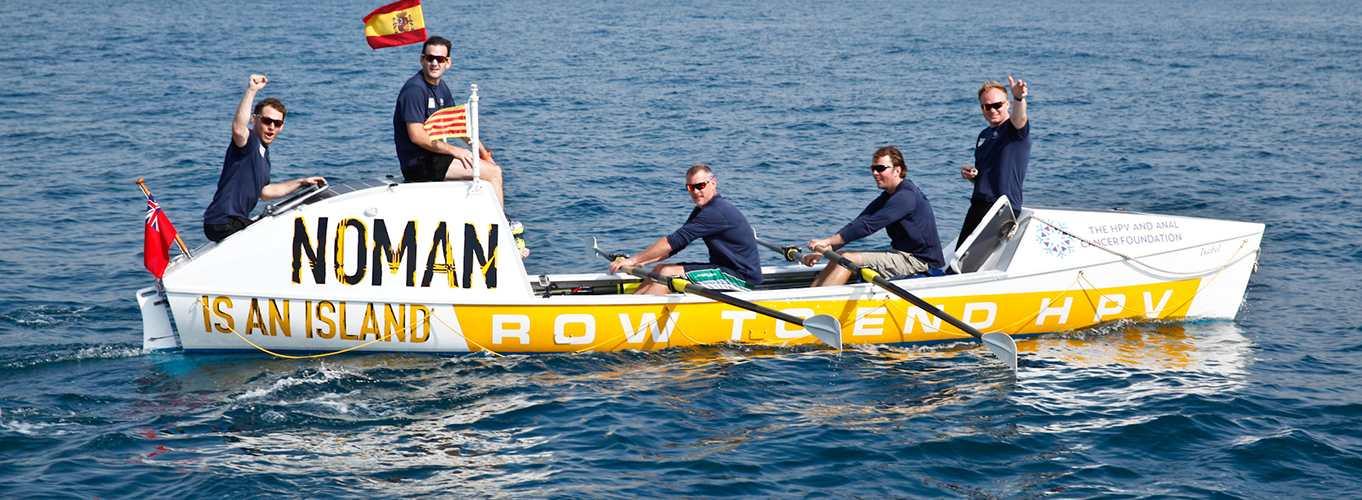 Noman boat waving